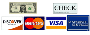 Payment Options Accepted